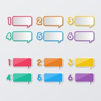 Текстовые воздушные шары с номерами