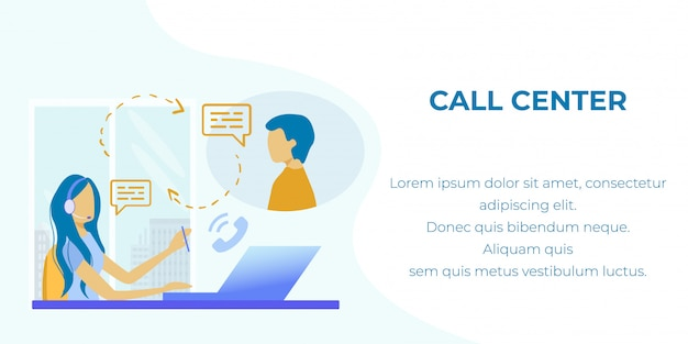Text banner advertising call center prof service
