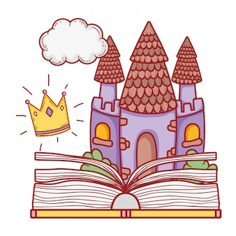 Text book with castle day celebration