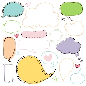 Text box cartoon cute bubble and talk