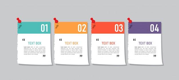 Дизайн текстового поля с заметками.