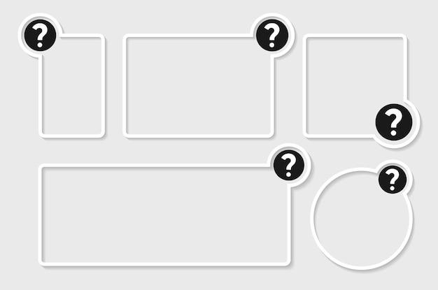 Text box icon question mark