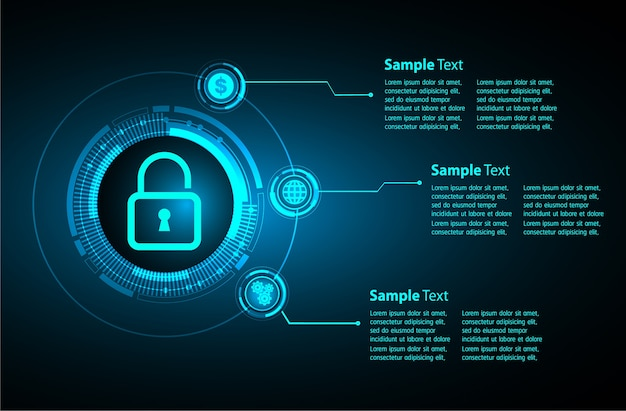 Text box internet of things cyber technology, security