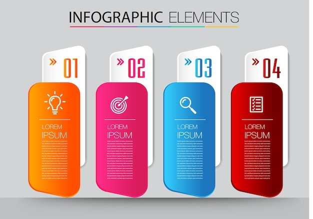 Text box template, infographics banner
