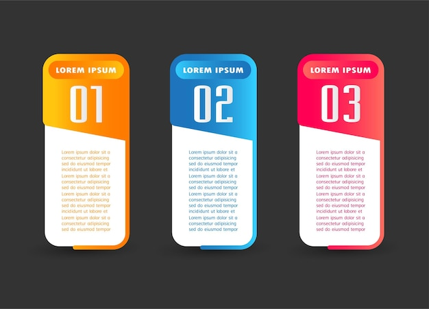 Text box template infographics banner