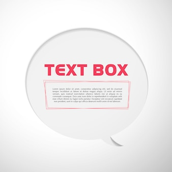 Text box vector illustration.