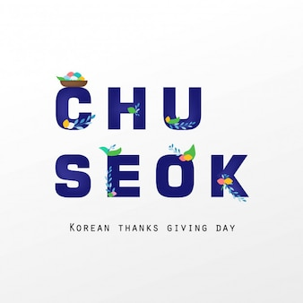 Text chuseok special day korean beauty