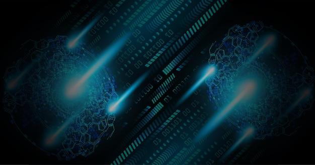 텍스트 사이버 회로 미래 기술 개념 배경