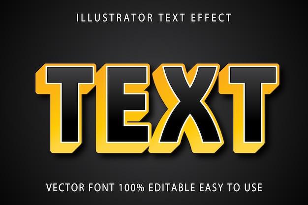 Text  editable text effect