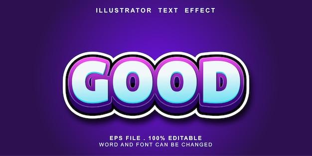 Text effct editable good