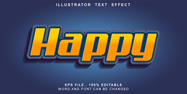 Text-effct-editable-happy
