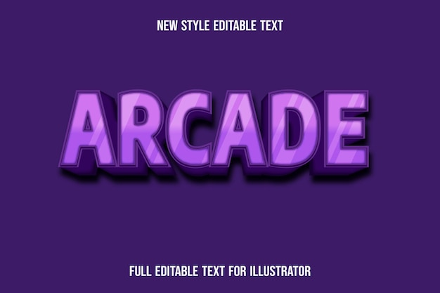 Text effect 3d arcade color pink and dark pink gradient