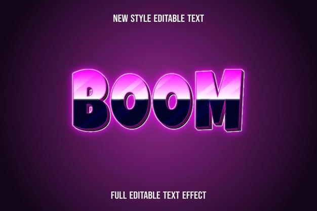 Текстовый эффект 3d цвет стрелы розовый и черный градиент