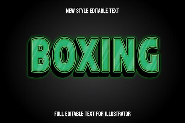 Текстовый эффект 3d бокс цвет зеленый и черный градиент
