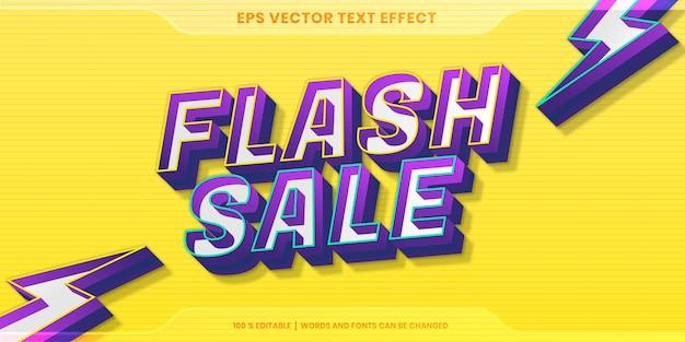 Text effect in 3d gradient flash sale words text effect theme editable concept
