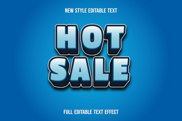 Text effect 3d hot sale color white and blue