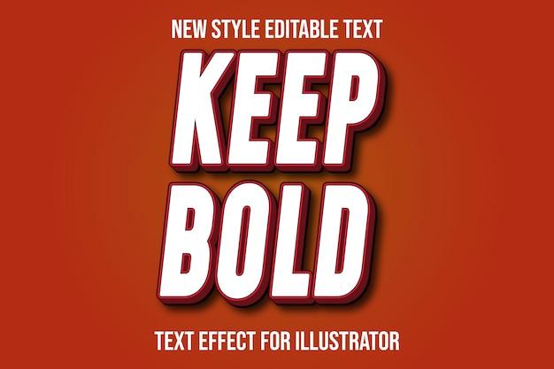 Текстовый эффект 3d сохраняет жирный цвет белый и красный градиент
