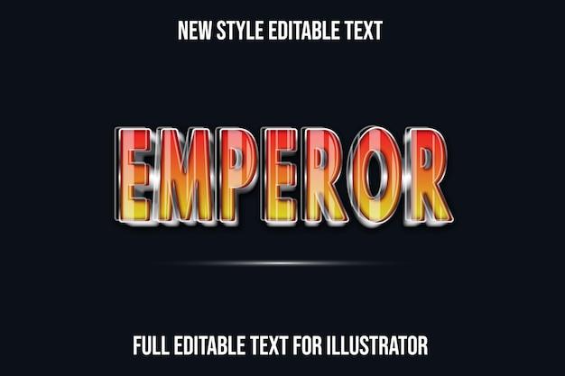 Текстовый эффект 3d легенды героев цвет красный и коричневый градиент