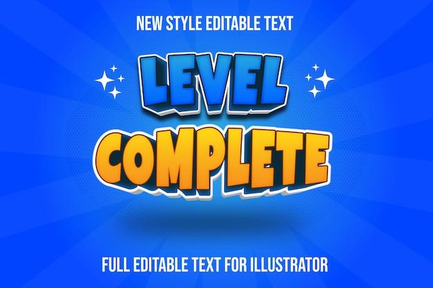 Текстовый эффект 3-го уровня полный цвет синий и желтый