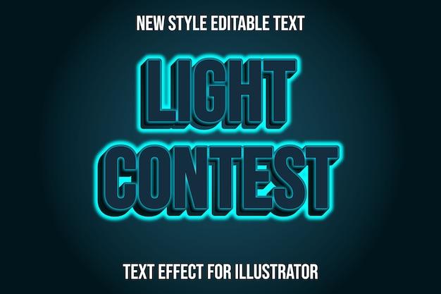 Текстовый эффект 3d световой конкурс цвет зеленый и тоска градиент