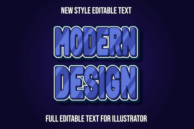 Text effect 3d modern design in light purple gradient