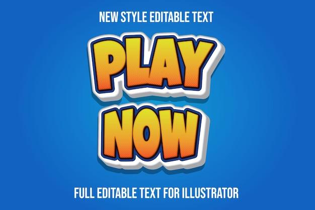Текстовый эффект 3d play теперь цвет оранжевый и белый градиент