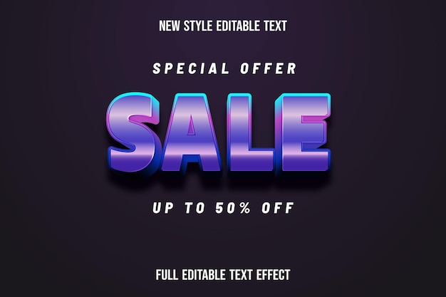 Text effect 3d sale color pink and purple