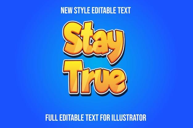 텍스트 효과 3d 유지 트루 컬러 노란색과 흰색 그라디언트