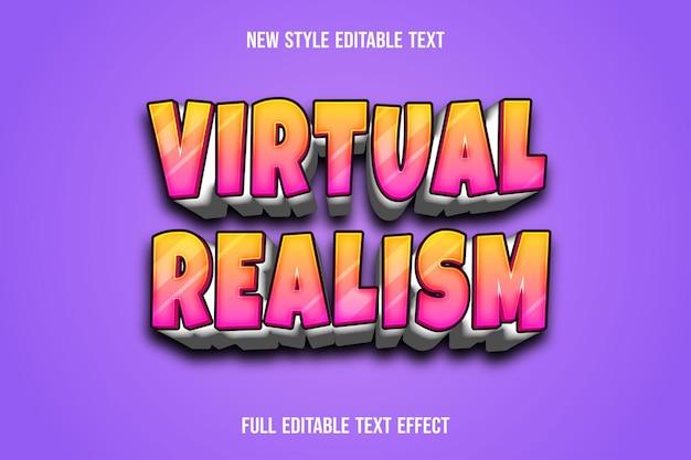 Текстовый эффект 3d виртуальный реализм цвет зеленый и желтый градиент