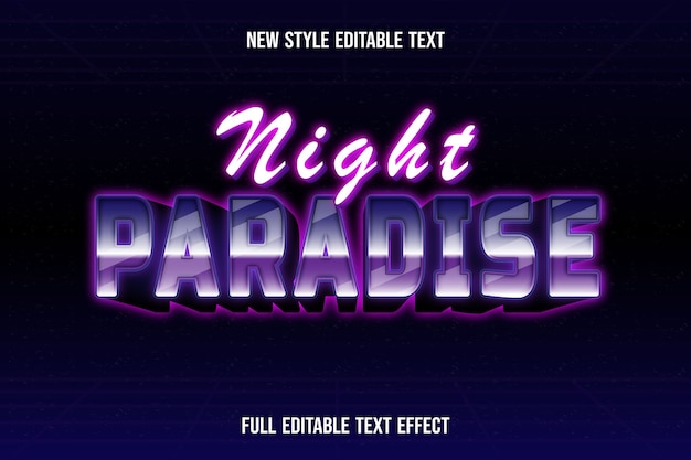 Text effect 3dnight paradise color white and pink gradient
