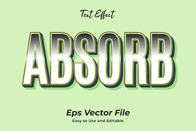 Text effect absorb editable and easy to use premium vector
