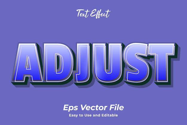 Text effect adjust editable and easy to use premium vector