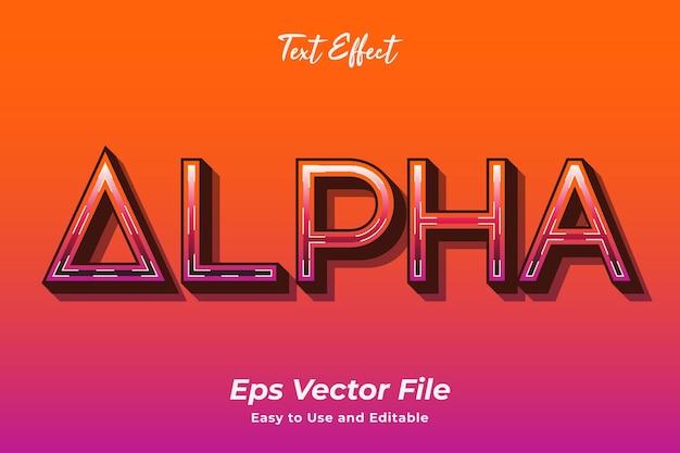 テキスト効果アルファ編集可能で使いやすいプレミアムベクター
