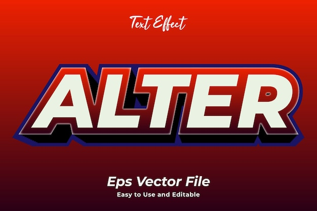 Text effect alter easy to use and editable premium vector