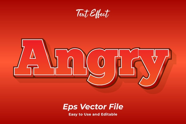 Text effect angry editable and easy to use premium vector