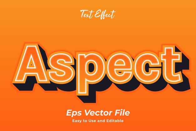 テキスト効果アスペクト編集可能で使いやすいプレミアムベクター