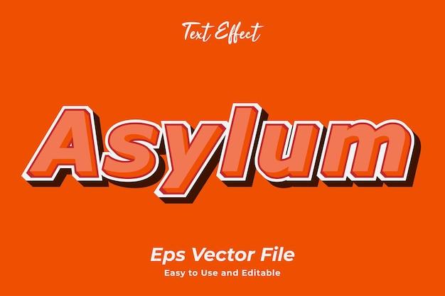 텍스트 효과 망명 편집 가능하고 사용하기 쉬운 프리미엄 벡터