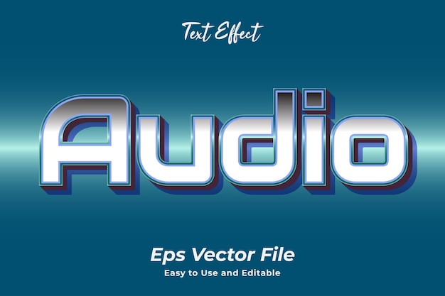 Text effect audio editable and easy to use premium vector