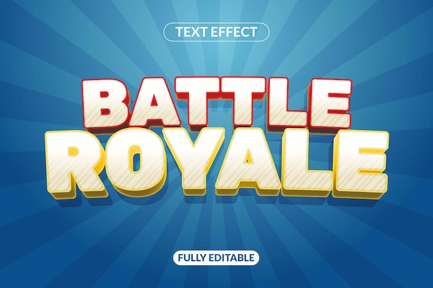 Text effect battle royale game for advertising, social media branding, title and many more