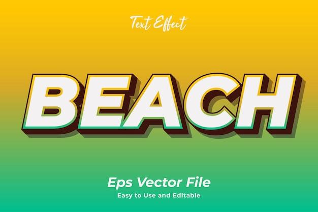 Текстовый эффект пляж редактируемый