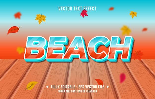 텍스트 효과 해변 그라데이션 스타일 가을 시즌 배경