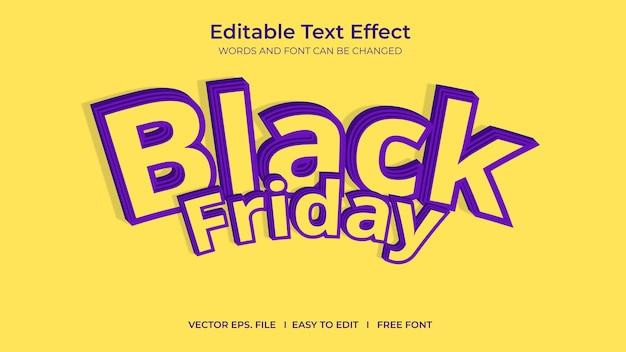 Текстовый эффект черная пятница