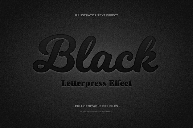 Text effect black