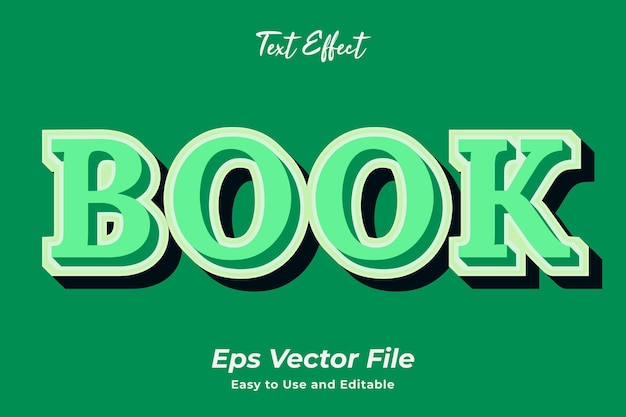 Text effect book easy to use and editable premium vector