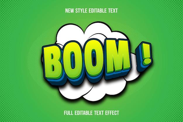Текстовый эффект бум на зеленом и синем градиенте