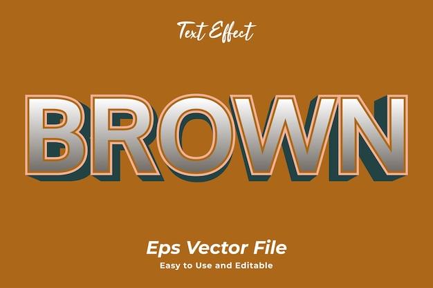 Текстовый эффект коричневый редактируемый