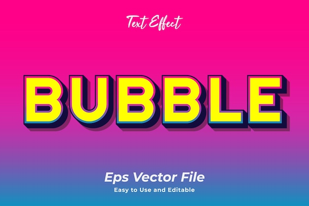 Text effect bubble editable and easy to use premium vector Premium Vector