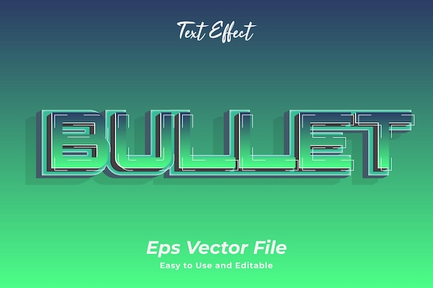 Text effect bullet editable and easy to use premium vector