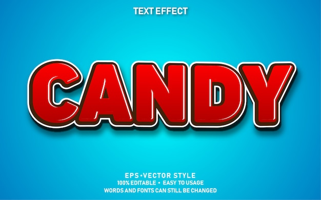 Text effect candy