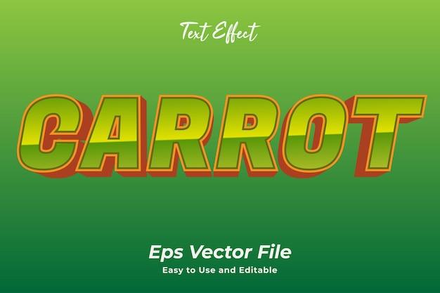 Текстовый эффект морковь редактируемый